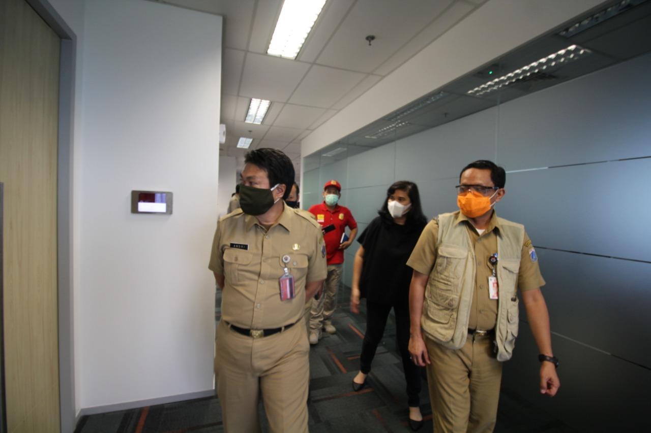 Pemkot Jaksel Sidak Gedung Perkantoran Terkait PSBB