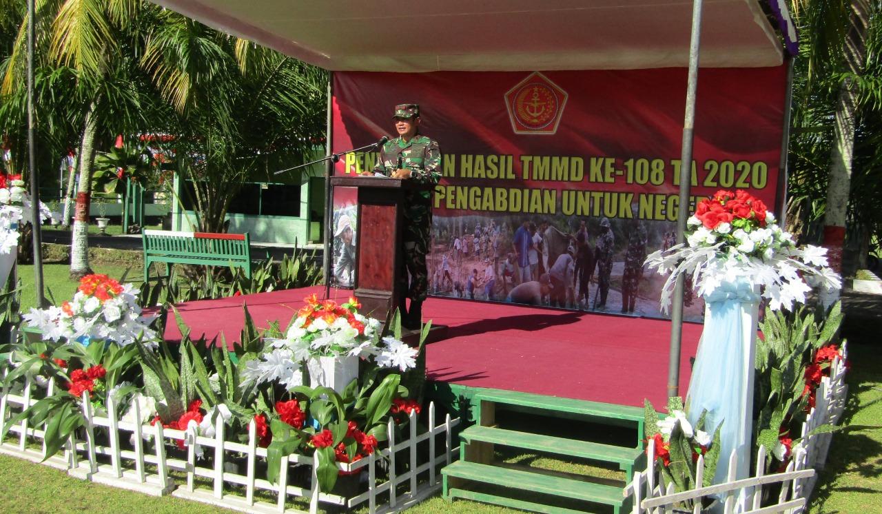 Danrem 173/PVB Tutup Kegiatan TMMD Ke-108di Kabupaten Kepulauan Yapen