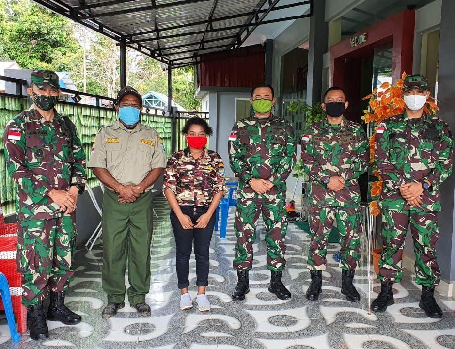 Kasrem174Merauke Silaturahmi dengan Ketua FKPPI Boven Digoel