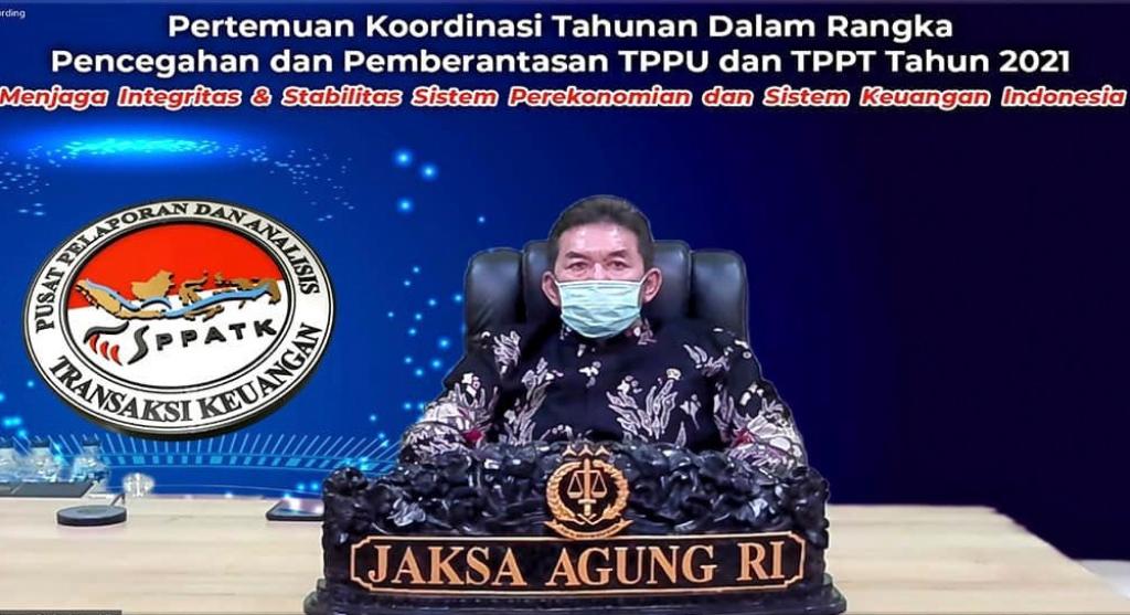 Jaksa Agung Tampil Sebagai Pembicara Pertemuan Koordinasi TPPU dan TPPT