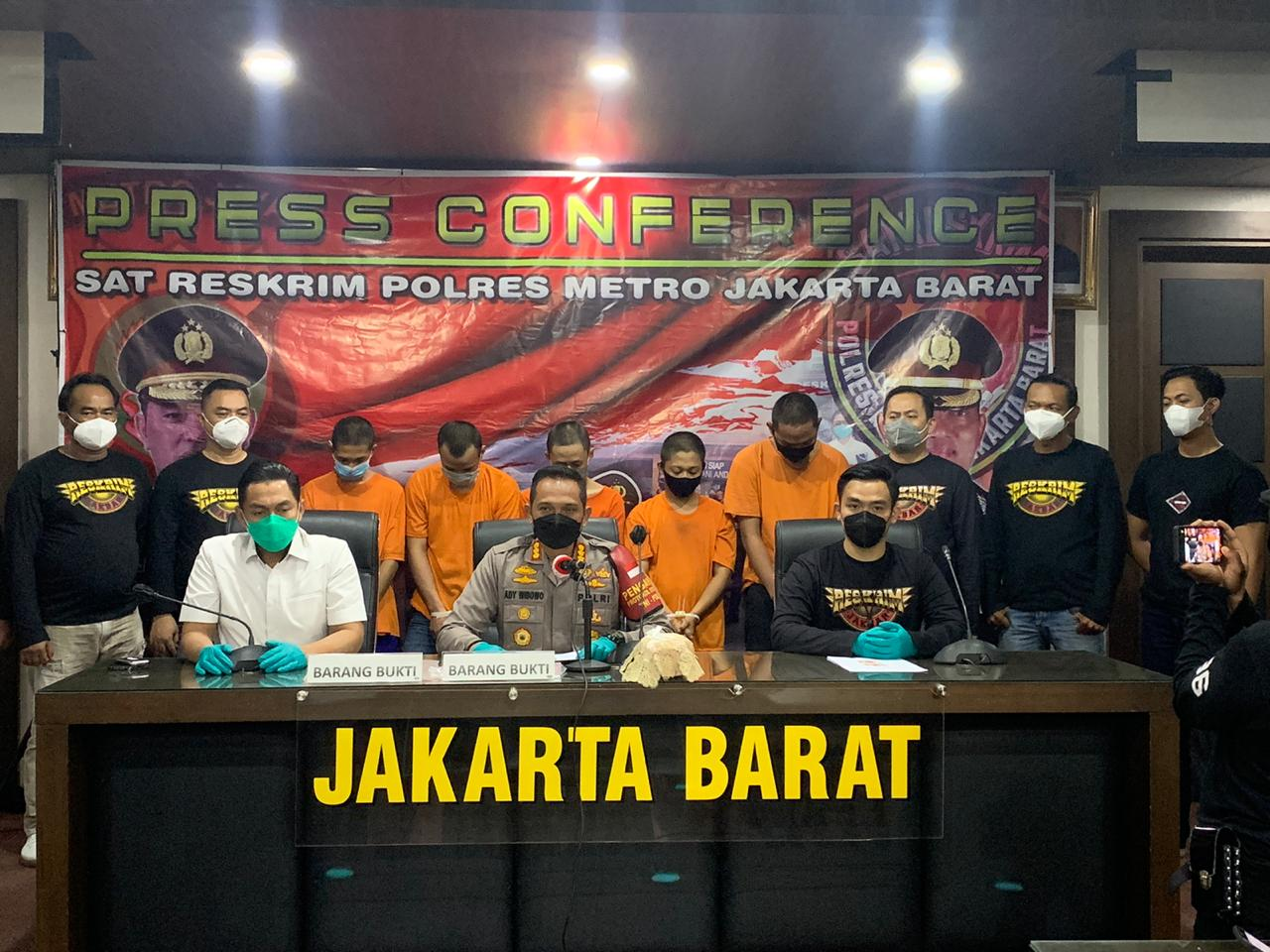 Polres Metro Jakarta Barat Ringkus Lima Anggota Geng Motor Pelaku Penusukan Remaja