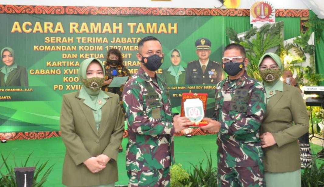 Danrem Brigjen TNI Bangun Nawoko Pimpin Acara Tradisi Korps danSertijab Dandim 1707/Merauke