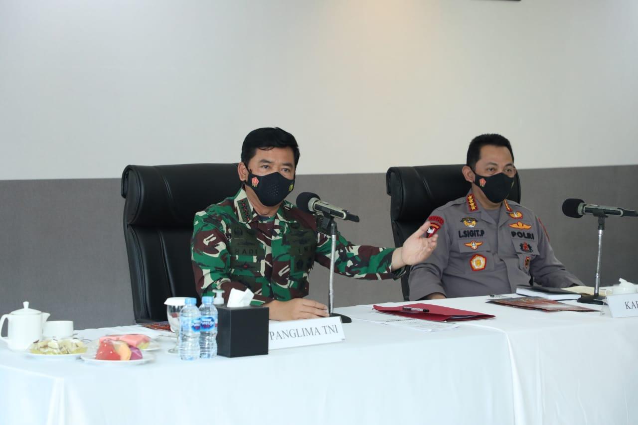 Panglima TNI Bersama Kapolri Berdialog Dengan Forkopimda Papua