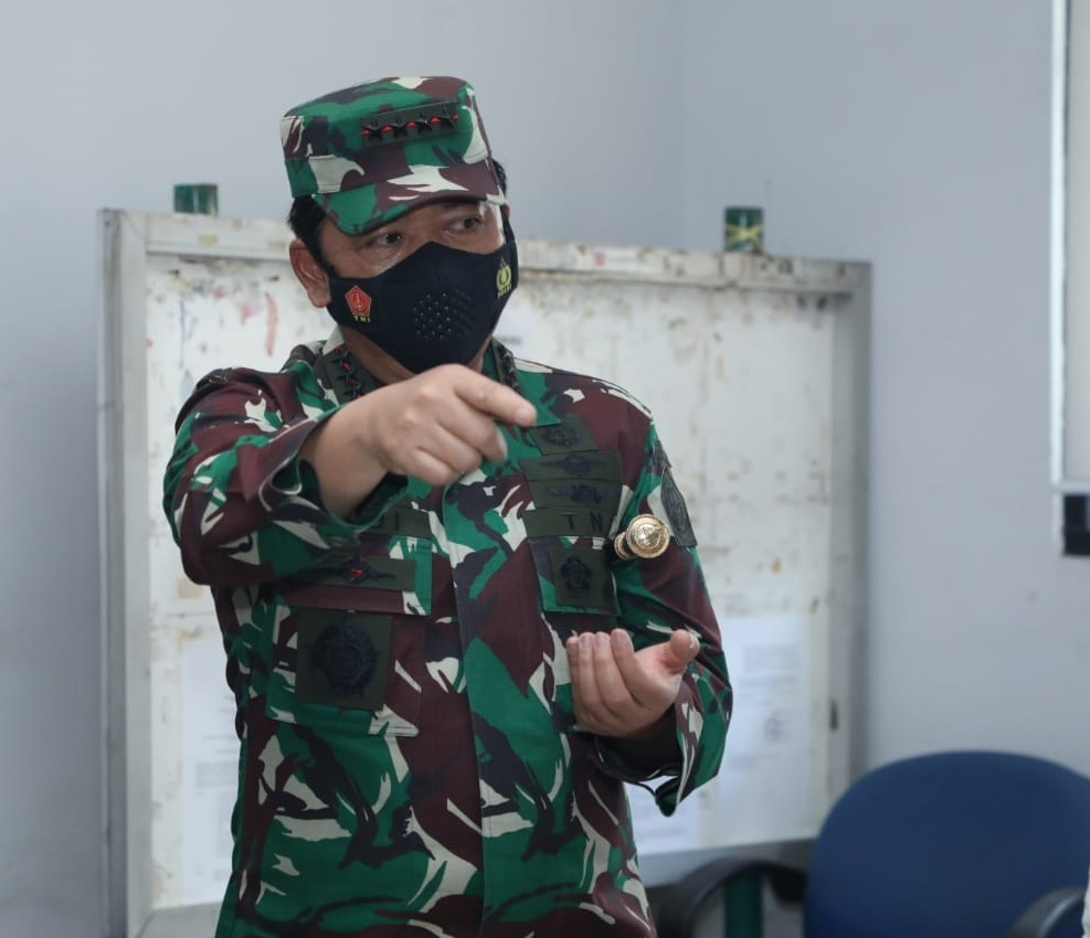 Isolasi Terpusat OTG Nagrak dan 4 Posko PPKM Mikro di Sidak Panglima TNI